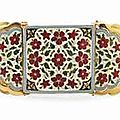 A fine enamelled gold armband bazuband. north india, 19th century and later