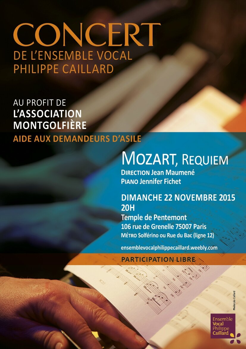 Requiem de Mozart par l'Ensemble Vocal Philippe Caillard - 22 11 2015