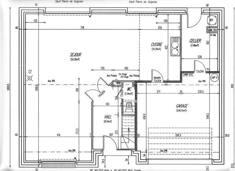 Plan du rez de chauss e photo de plan et descriptif la maison de nos r ve - Plan de rez de chaussee ...
