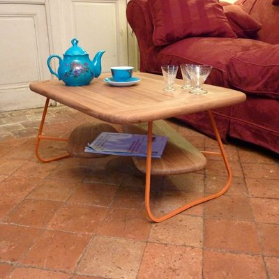 table basse acier chêne bois metal (4)