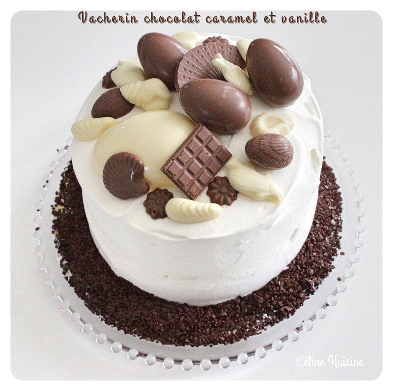 vacherin chocolat caramel vanille