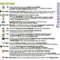 Programme : samedi 13 mai