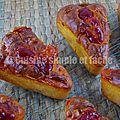 Mini cakes aux knacki, cheddar et ketchup.