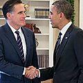 Le gouverneur romney et le président obama ont déjeuné ensemble ce midi