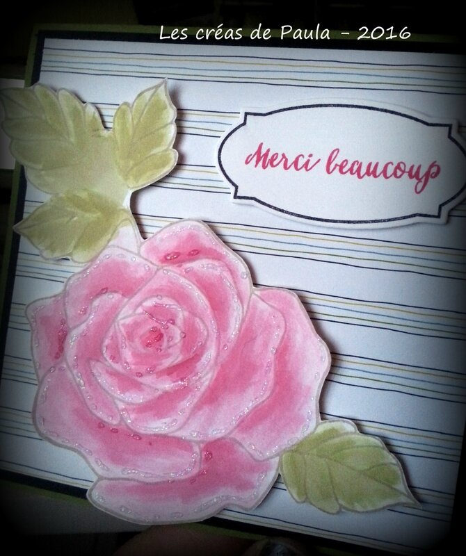 carte rose merci beaucoup