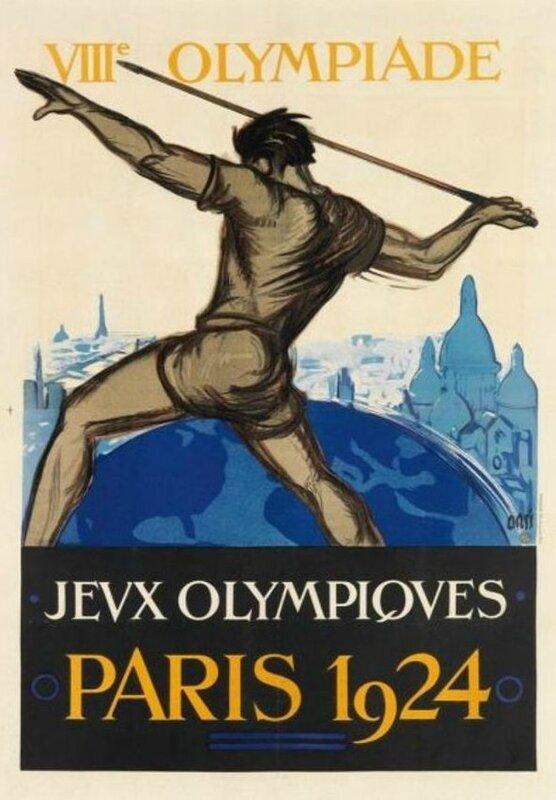 CPA Affiche JO Paris 1924 Orci