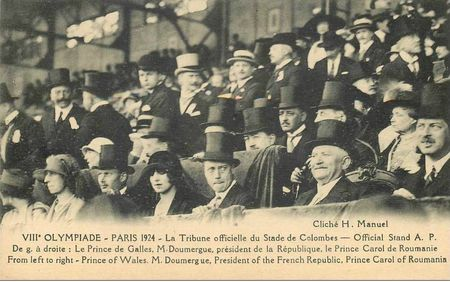 CPA JO Paris 1924 Tribune