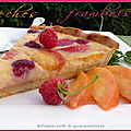 Tarte sable pches framboises
