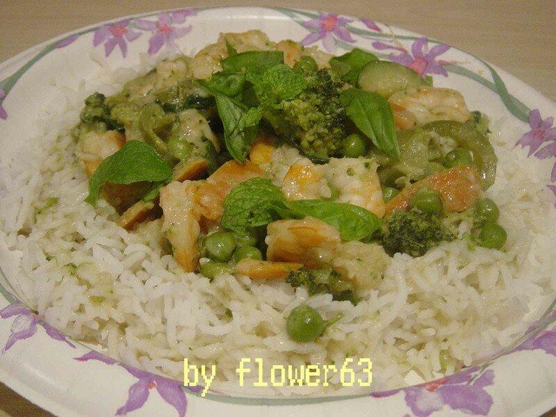 Thai Green Curry Shrimp - RECETTES DE CUISINE ILLUSTREES
