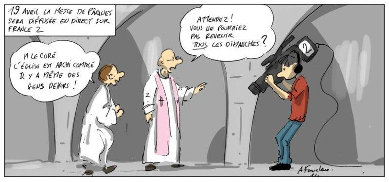 Illustration TV Messe du dimanche Anthony Faucheux R