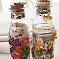 altered bottles creation Chantal Sabatier