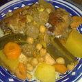 couscous 3 légumes (carottes, courgettes, navets)