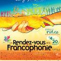 Les rendez-vous de la francophonie 2011