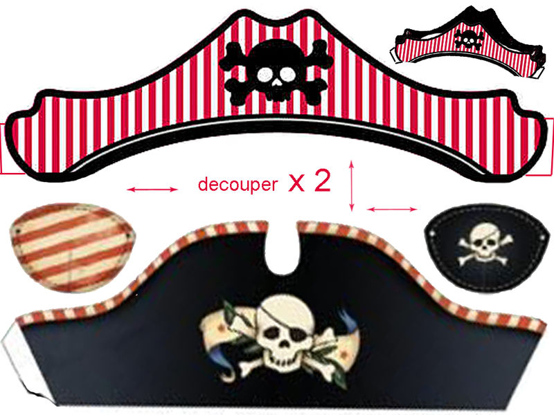 Pirate hat templates poster board