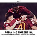 Buts roma vs fiorentina résumé vidéo (4-0)