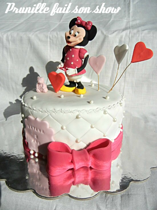 minnie mouse fondant cake prunillefee