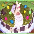 Gâteau de pâques chocolat noisette