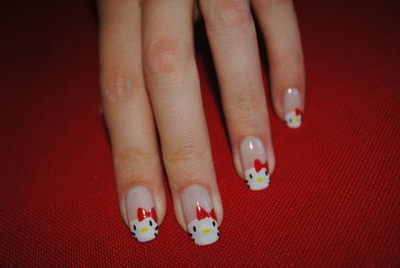 nail art hello kitty (1)