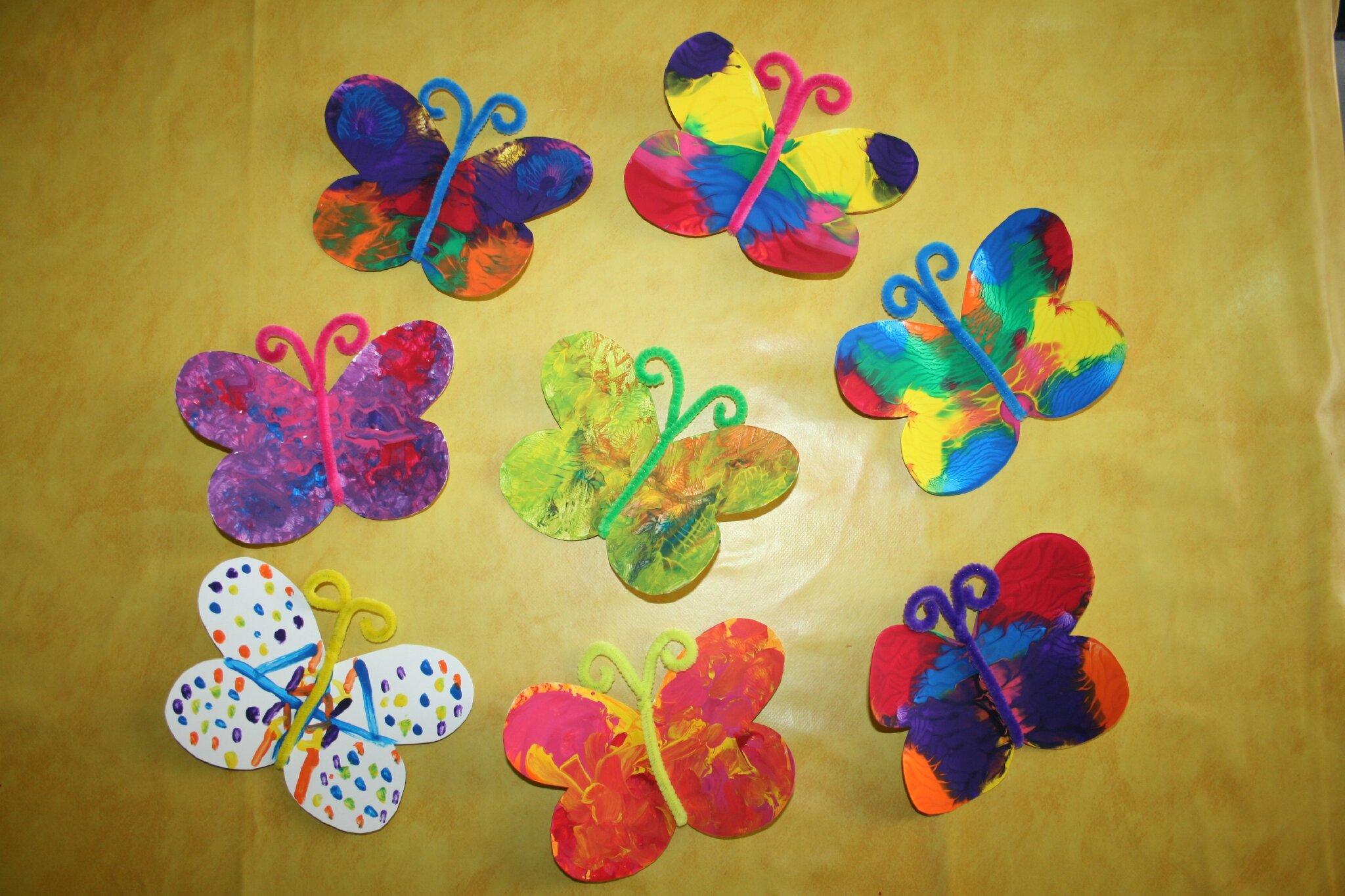 Super Papillon ( peinture avec pliage) - Les Lutins Créatifs, bricolage  XW33