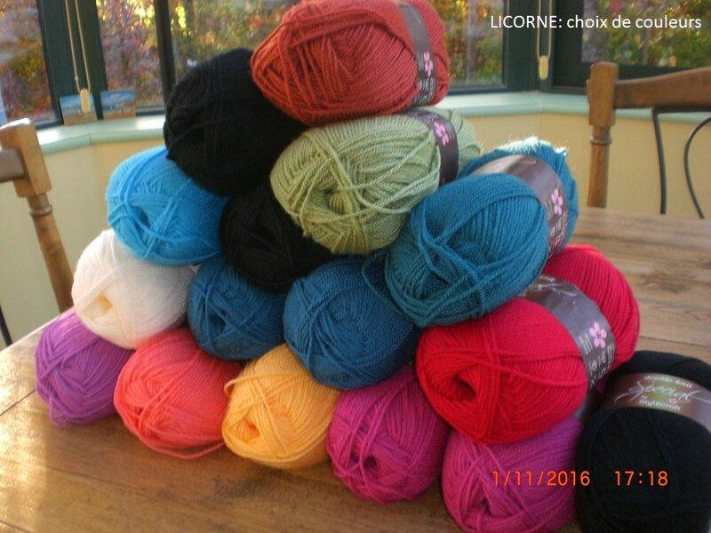 couleurs Licorne
