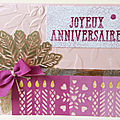 Carte d'anniversaire,girly !