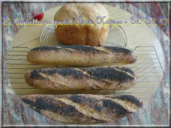 Baguettes au pavot, recette d'Eric Kayser