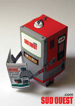 Paper toy Sud Ouest