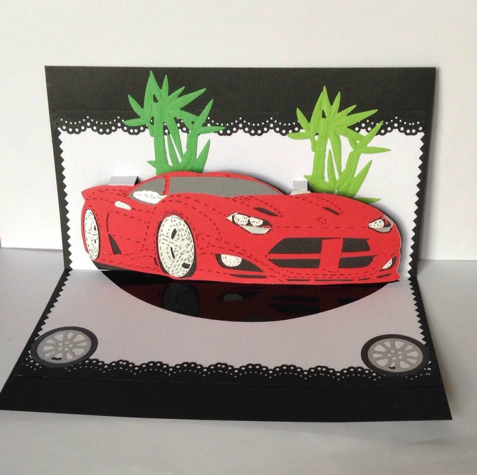 kirigami voiture de course la dodge viper kirigami mes travaux en papier. Black Bedroom Furniture Sets. Home Design Ideas