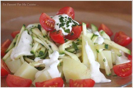 salade de pommes de terre et de courgettes marinées