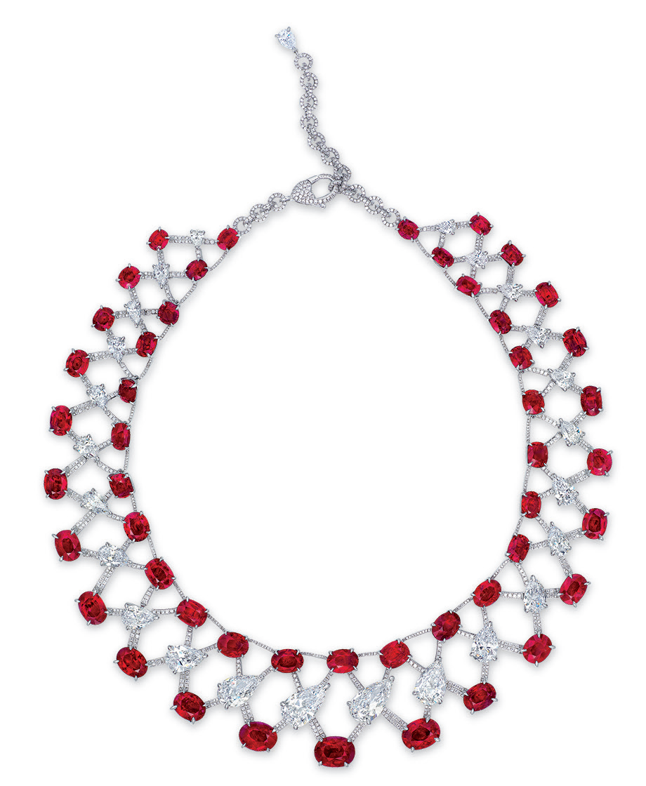 A magnificent ruby and diamond necklace, by Etcetera