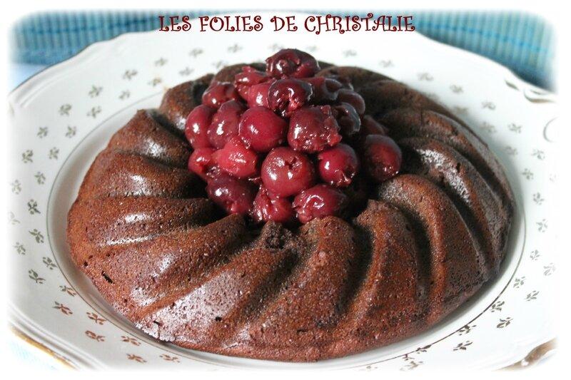 Gâteau chocolat cerises 1