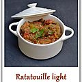 Ratatouille light (avec ma production personnelle !!! héhéhé)