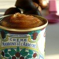 Fondant  la crme de marrons & sauce chocolat