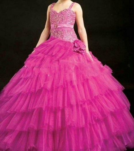 """robe de princesse fushia """"CINDY"""" 10 ans"""