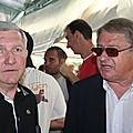 Guy Rasper, Président du FCBS et François Tavernier , Maire de Parcieux