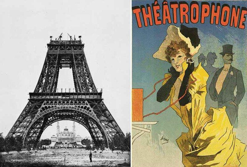 Tour Eiffel et théâtrophone