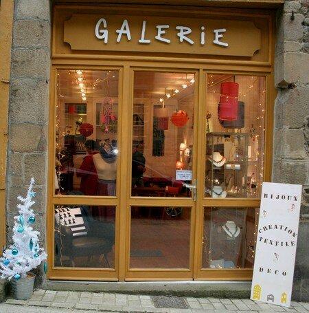 Façade boutique GALERIE Noel 2014