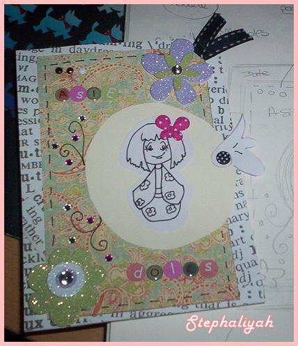 Carte scrap pour cristina -- mai 2010