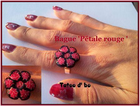 bague petale rouge