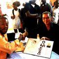 Avec Alain Cannone lors du Vernissage Expo Congo 50