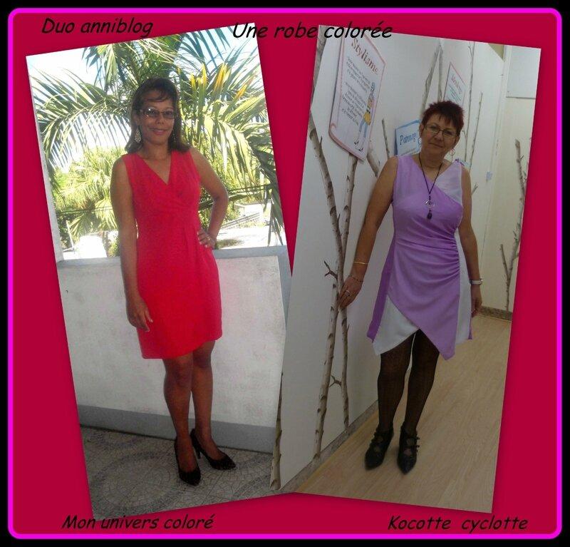 duo robe colorée