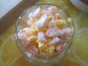 Verrine d'oeuf mimosa aux crevettes09