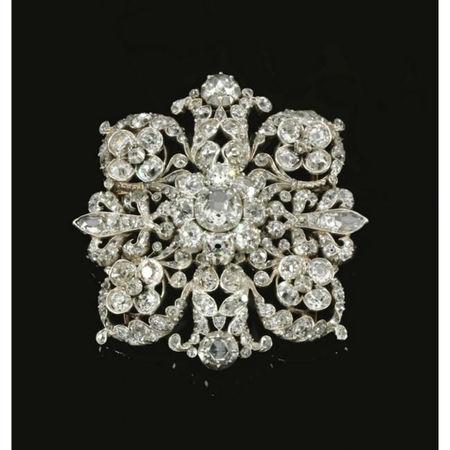 Diamond brooch, mid 19th centuryDiamond brooch, mid 19th century