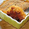 Parmentier de chorizo aux deux pommes de terre, sans gluten et sans lactose