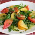 Salade de tomates au herbes et au gingembre