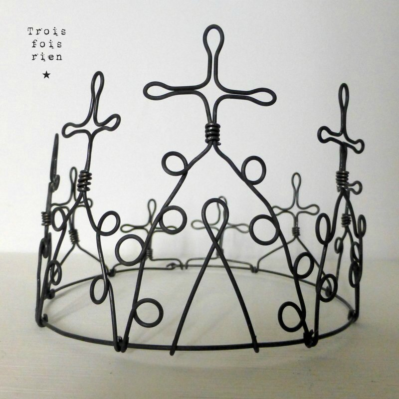 couronne fil de fer, wire crown 11
