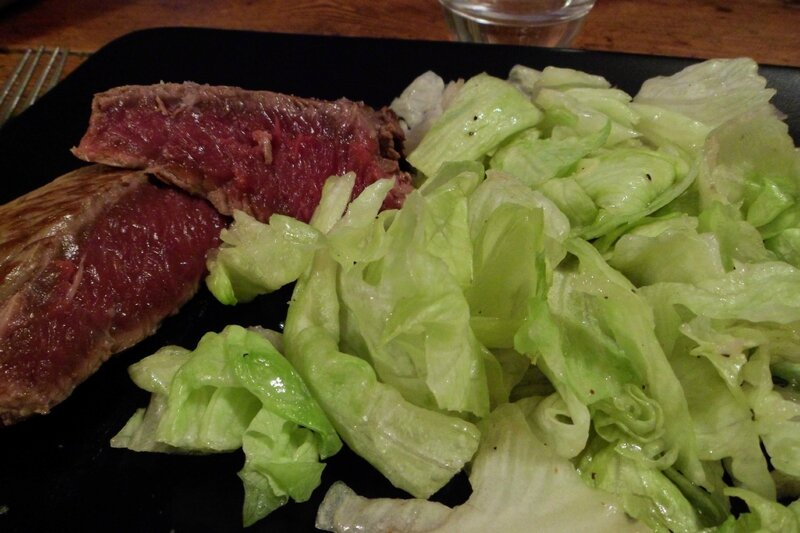 2 - steak - salade