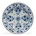 An Iznik pottery dish. Ottoman, Turkey, third quarter 16th century