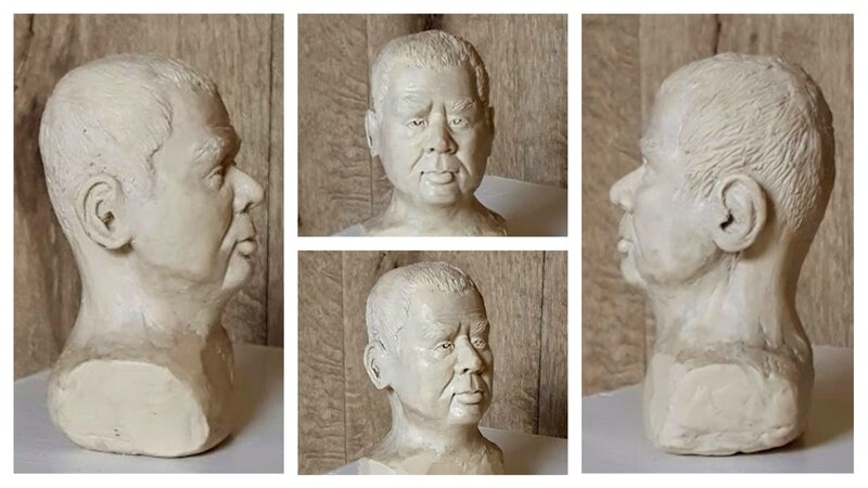 sculpture buste homme Valérie Albertosi