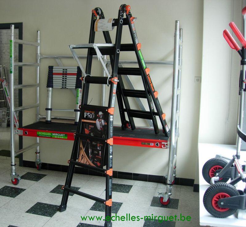 Echelle t lescopique little giant black pro echelles mirguet ca - Echafaudage pour cage d escalier ...
